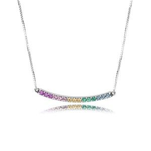 Pandora Rainbow Arcs of Love Necklace 🌈
